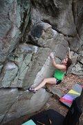 """Rock Climbing Photo: Emily Walker crushing """"Fat Cat"""", V5. Sto..."""