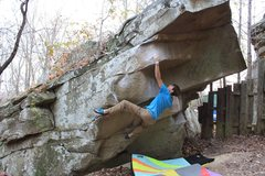 Rock Climbing Photo: Taylor Eshmont preparing to throw on Tennessee Tho...