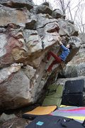 "Rock Climbing Photo: Oliver Richman on ""Oracle"", V4. Stone Fo..."