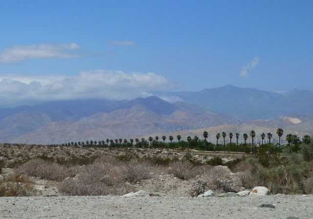 Looking west along Hwy 111, San Jacinto Mountains