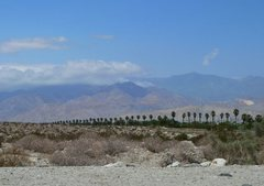 Rock Climbing Photo: Looking west along Hwy 111, San Jacinto Mountains ...