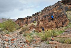 Rock Climbing Photo: Stephanie working on the Spaghetti Western. Very l...