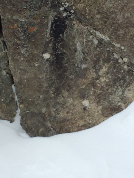Chopped bolts on second pitch of Second Gully.