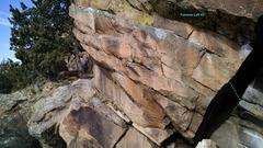 Rock Climbing Photo: End of Traverse Left, V0.