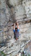 Rock Climbing Photo: Unknown climber follow the crux. 11/27/2015
