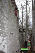 "Rock Climbing Photo: Oliver Richman high up on ""Block and Tackle&q..."