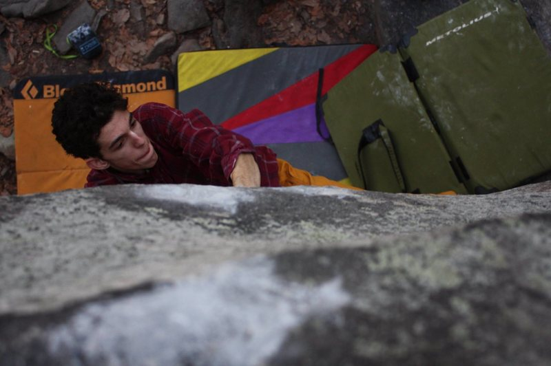 "Rock Climbing Photo: Oliver Richman on ""The White Face"", V10...."