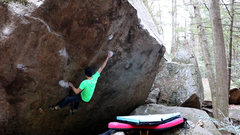 Rock Climbing Photo: Working through the crux on My Little Pony