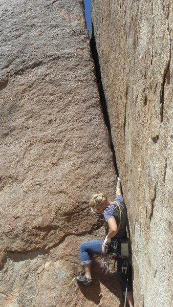 Rock Climbing Photo: A. A. on I. W.