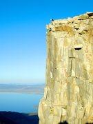 Rock Climbing Photo: The late Paul Andrews on Third Pillar.