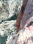 Rock Climbing Photo: Climbers on P3...  Taken from Pro Choice (11a) on ...