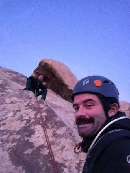 Rock Climbing Photo: sunset Rap