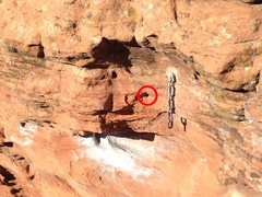 Rock Climbing Photo: Anchor. Missing bolt hole is 3 links down and 4 in...