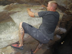 Rock Climbing Photo: Cave Traverse.  Guess it was humid that day...