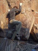 Rock Climbing Photo: Finishing the FA