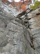 Rock Climbing Photo: getting started on the first pitch.  a lot more fu...