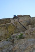 Rock Climbing Photo: Up above the crux on Jam It.