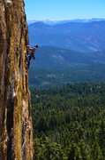 Rock Climbing Photo: Leading Shangri La