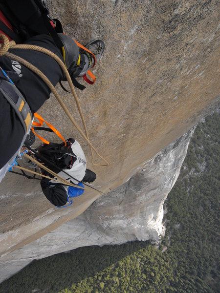 Rock Climbing Photo: Headwall of the Shield, El Cap.