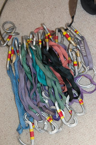 Rock Climbing Photo: slings with carabiners