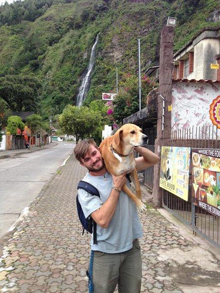 Rock Climbing Photo: me and thunder in baños ecuador