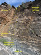 Rock Climbing Photo: I marked all the bolts I could see in my photo. Th...