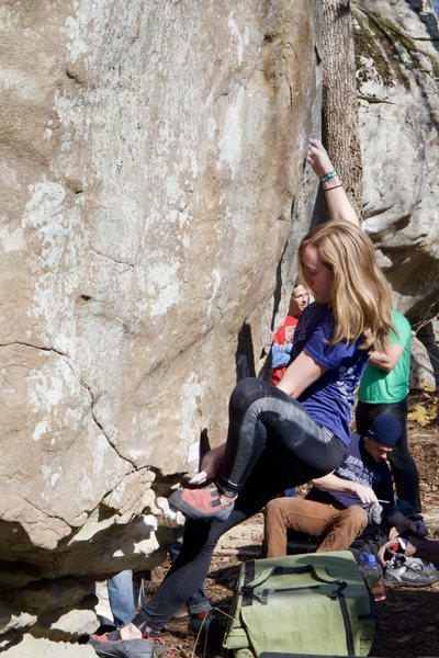 Unknown climber on bombadil at the 2015 Triple Crown at HP40