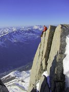 Rock Climbing Photo: Off the aiguille du midi