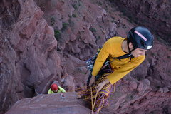 Rock Climbing Photo: Belay before last peach