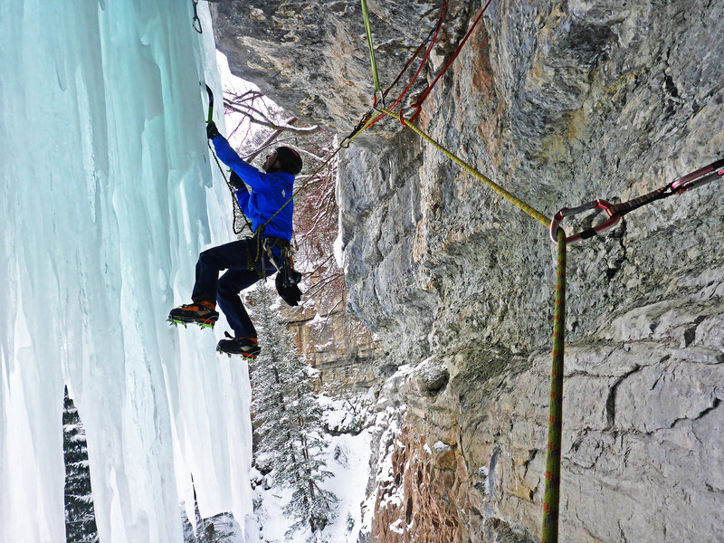 Rock Climbing Photo: Kacper Tekieli leading ice-crux of the route (Marc...