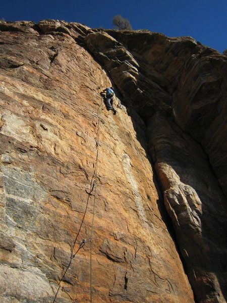 Rock Climbing Photo: Newer Route on Weathertop 5.11 sport.