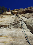 Rock Climbing Photo: Engaging twin fingers pillar to awesome overhangin...