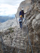 Rock Climbing Photo: Suspension bridge section