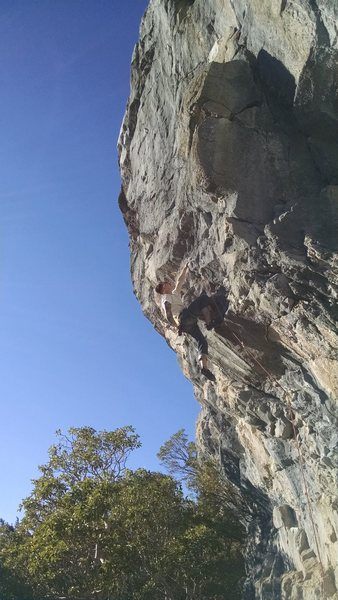 "Rock Climbing Photo: Taylor about to enter the business on ""Fearle..."