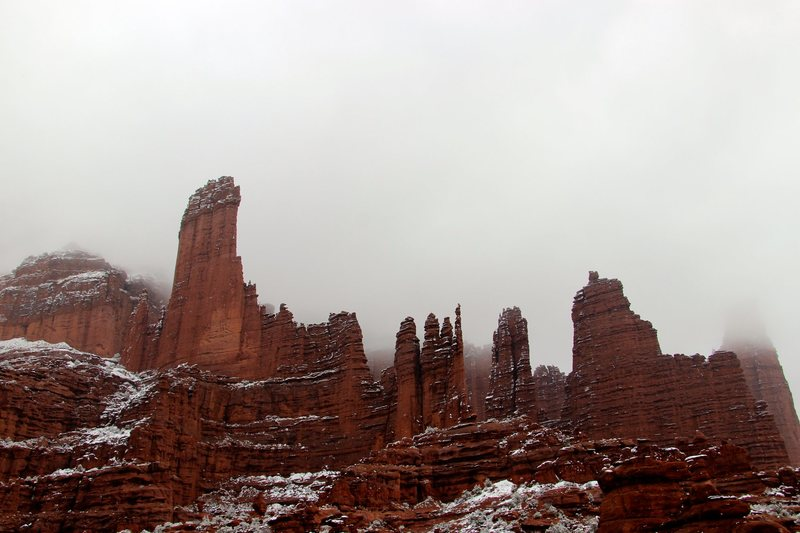 Rock Climbing Photo: Another rad snowy photo of the towers.