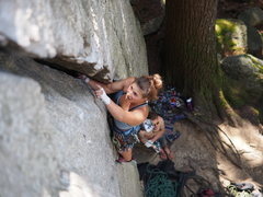 Rock Climbing Photo: Caitlin L. on her way up pitch in time. Yup, it's ...