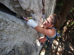Rock Climbing Photo: Near the top of a pitch in time