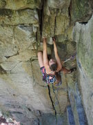 Rock Climbing Photo: Renee at the steepness