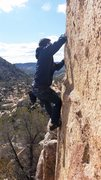 Rock Climbing Photo: Brando on one of the hundreds of boulders that sca...
