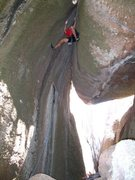 "Rock Climbing Photo: Climbing my route called ""Fire In The Belly&q..."