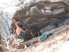 "Rock Climbing Photo: Bouldering ""Orion's Belt"" at home in Har..."