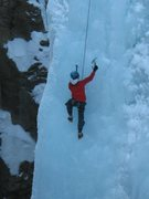 Rock Climbing Photo: Climbing some Ouray ice
