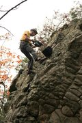 Rock Climbing Photo: Installing routes at a crag of nice sandstone.