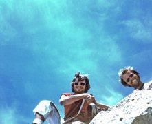 Rock Climbing Photo: Bruce and I finishing Cathedral Peak SE Buttress, ...