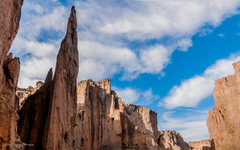 Rock Climbing Photo: Canyon la Buitrera with Aguja La Virgen in focus