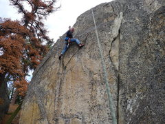 Rock Climbing Photo: Mike Arechiga on the TR wall, this climb is short ...