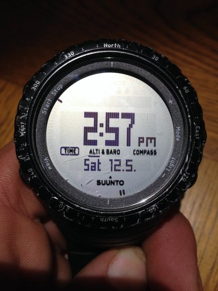 Rock Climbing Photo: watch face