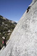 Rock Climbing Photo: Sascha Madrid on Needle & Spoon, Pywiack Dome