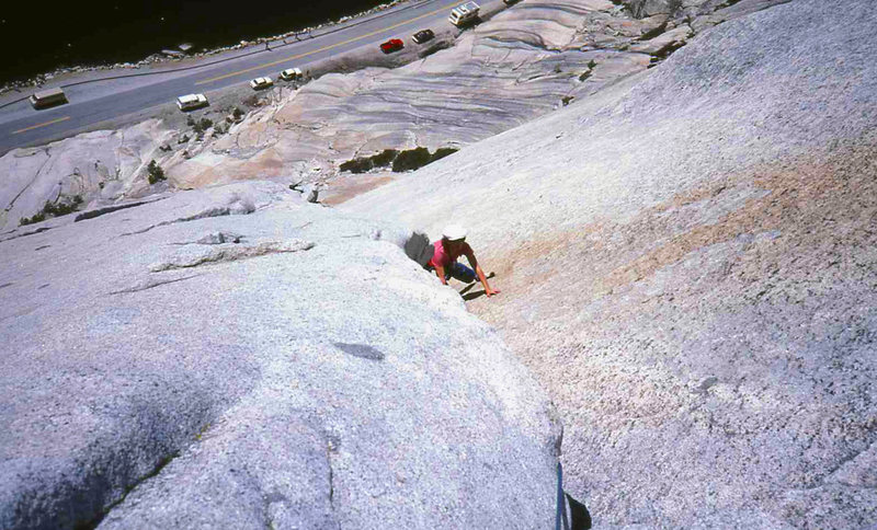 Rock Climbing Photo: Ingrid BITD on Great White Book, Stately Pleasure ...