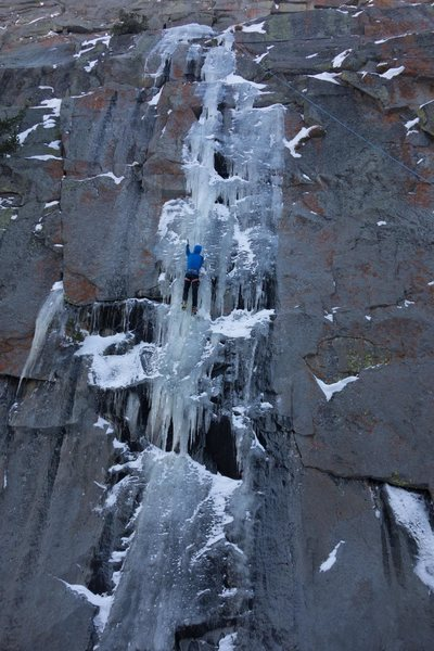 Rock Climbing Photo: Ben Traxler grabbing a lap in a fat year.